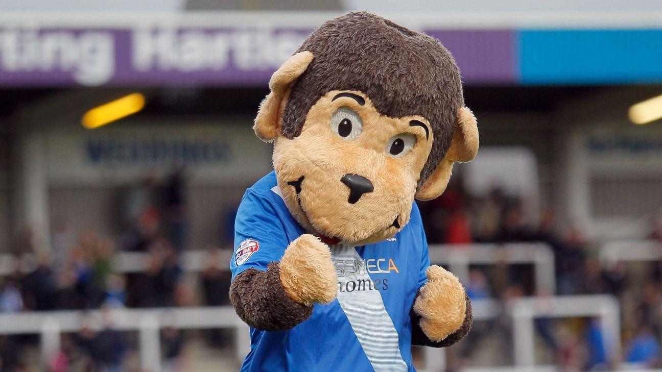 Hartlepool mascot H'Angus the monkey