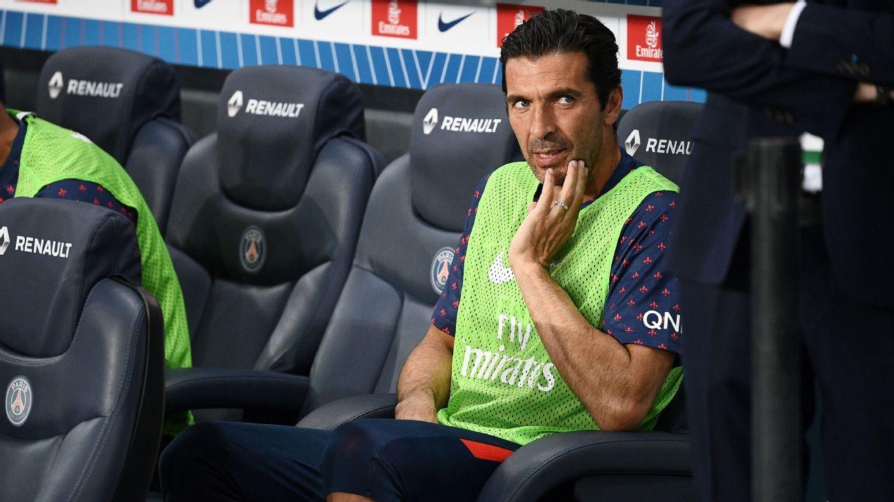 Paris Saint-Germain goalkeeper Gianluigi Buffon