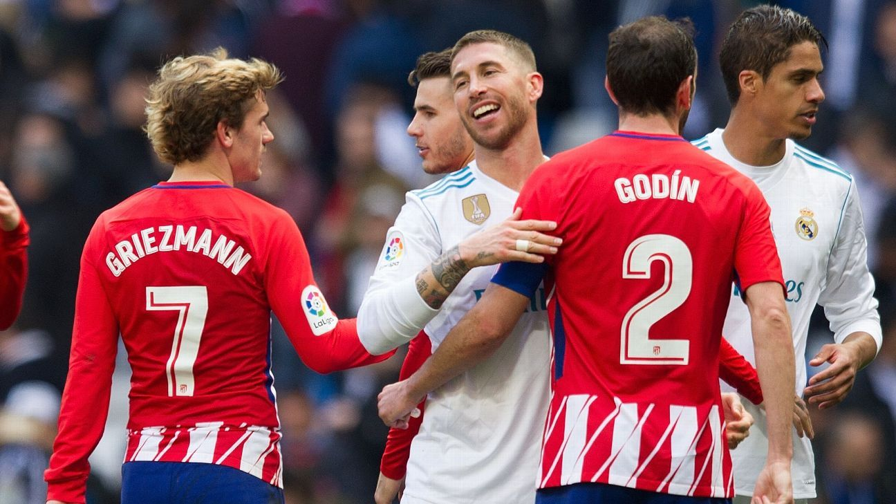 Sergio Ramos has renewed his rivalry with Atletico Madrid and Antoine Griezmann.