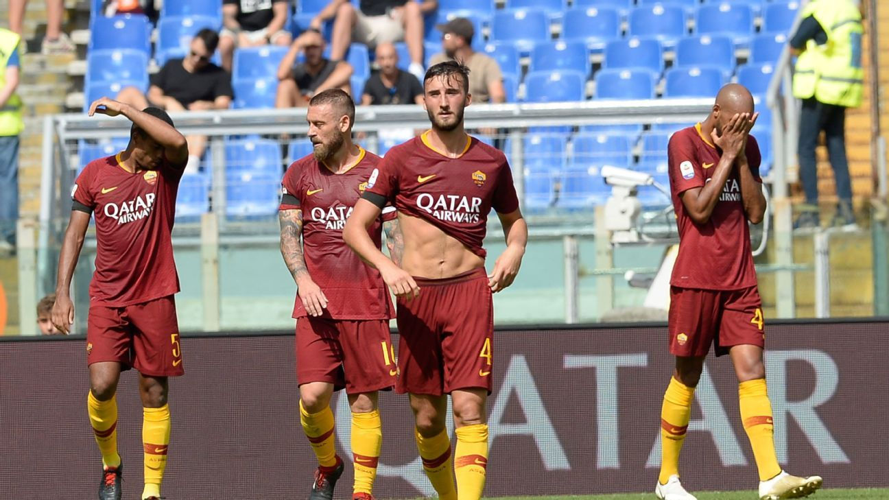 Roma haven't had much to smile about this season and already trail Juventus by seven points in the league.