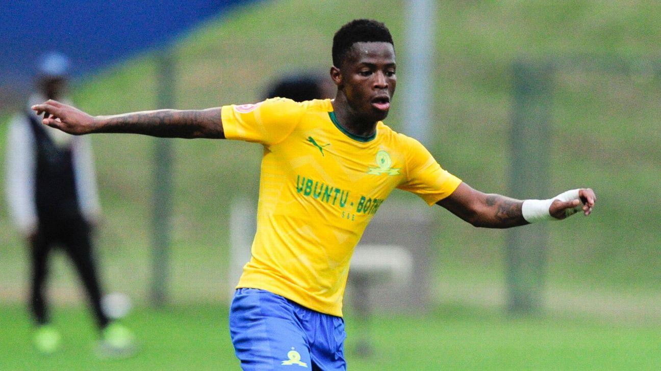 Phakamani Mahlambi scored his first goal for Sundowns against AmaZulu