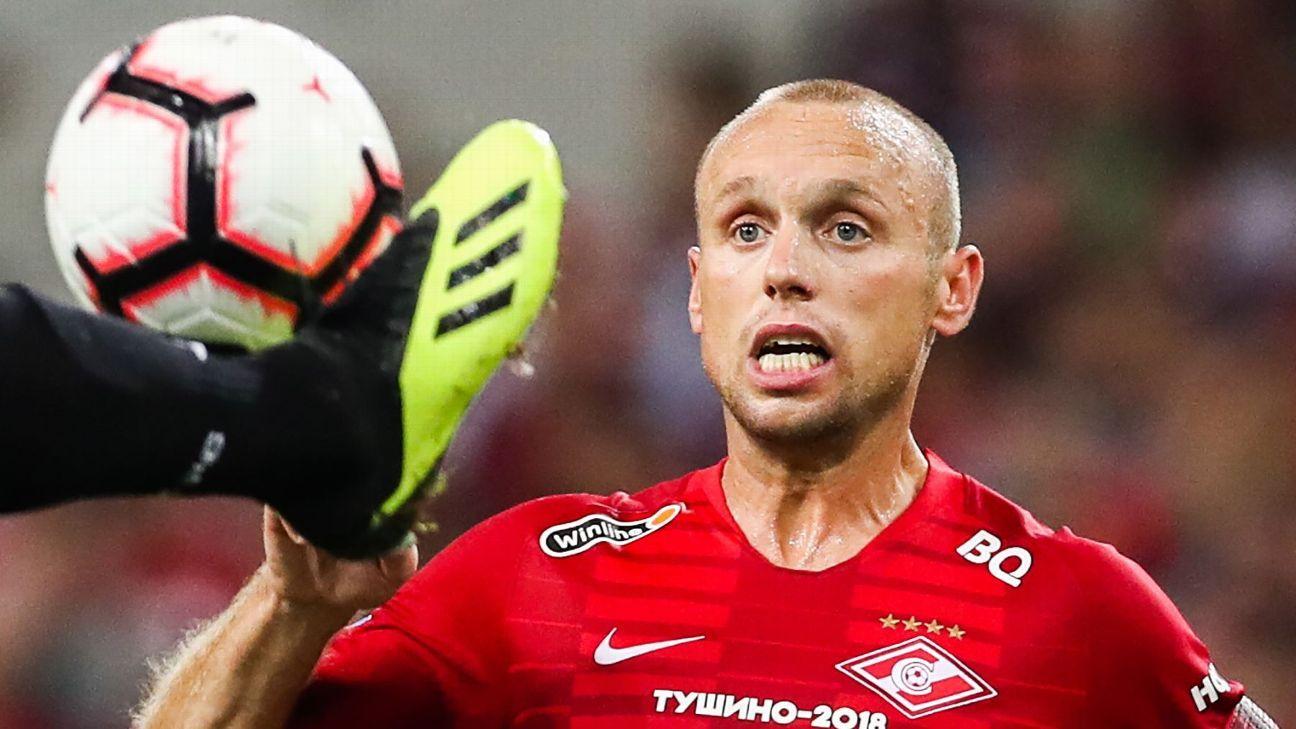 Spartak Moscow's Denis Glushakov