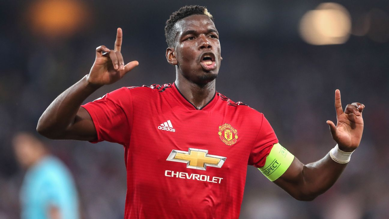 Paul Pogba scored his first two goals for Manchester United in Champions League competition on Wednesday night.