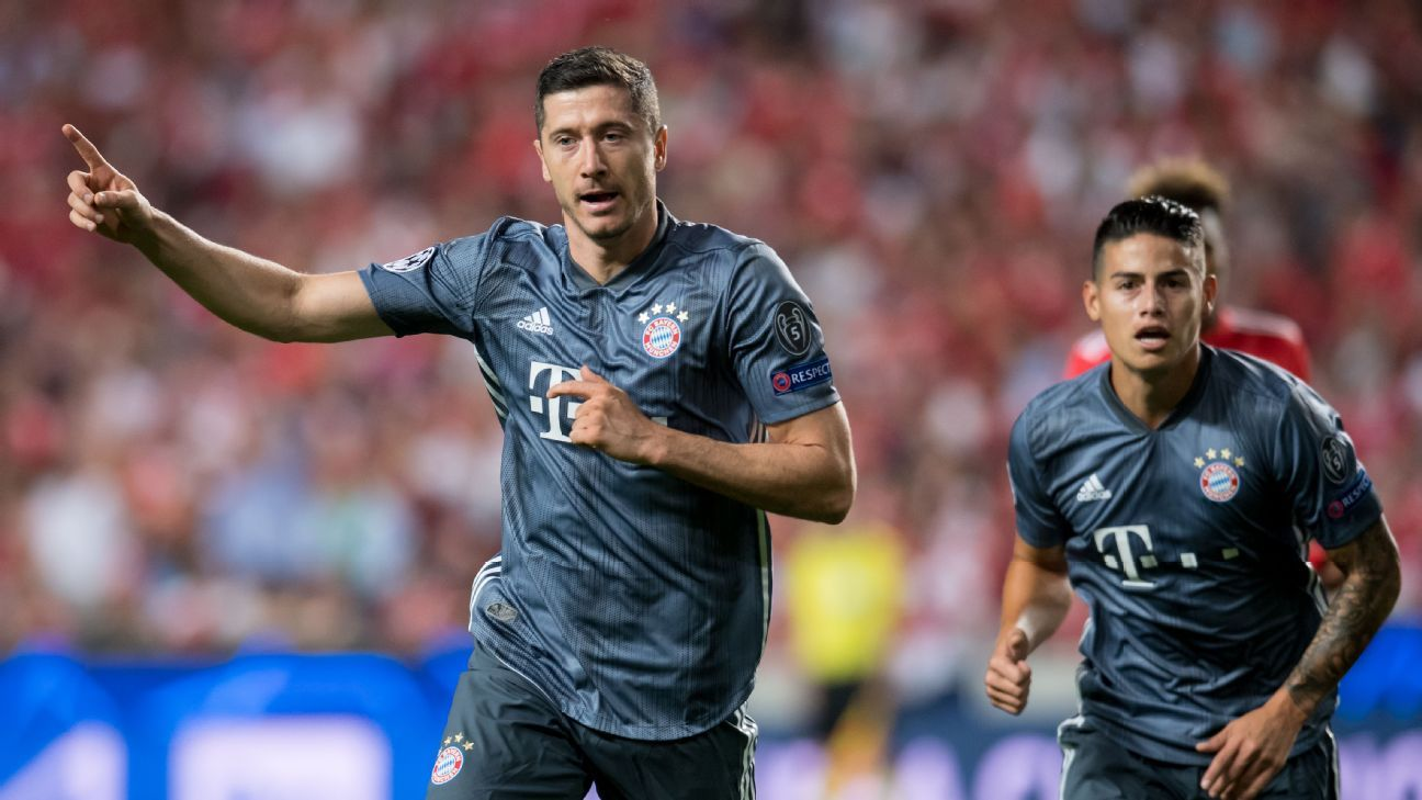 Robert Lewandowski got Bayern's Champions League campaign off and running after just 10 minutes.