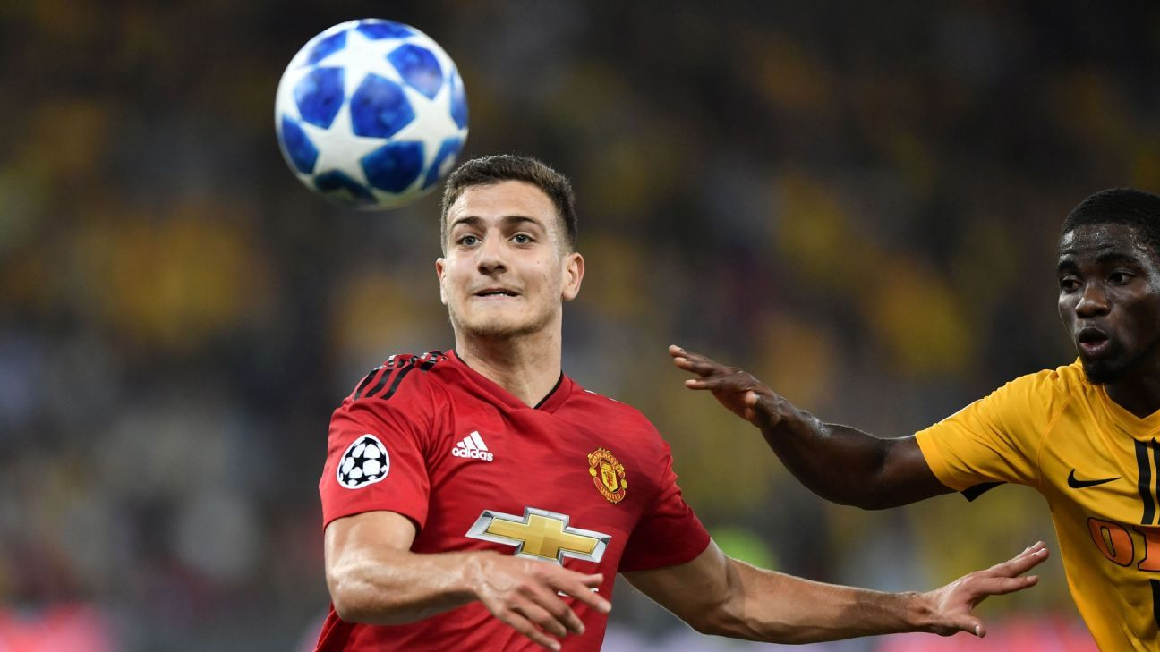 Diogo Dalot, who joined Manchester United from Porto in June, started at right-back vs. Young Boys.