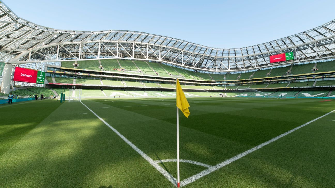 Aviva Stadium in Dublin.