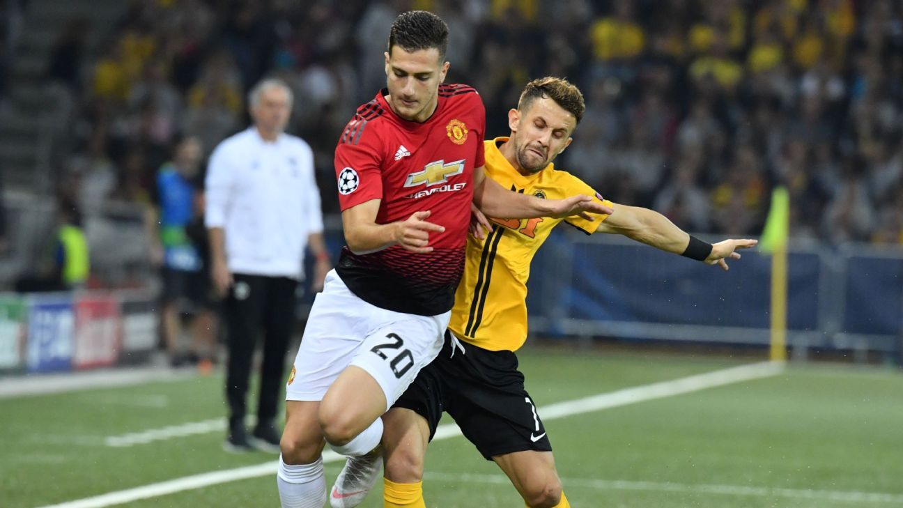 Diogo Dalot's debut for Manchester United was an impressive performance against Swiss champions Young Boys in Champions League competition.