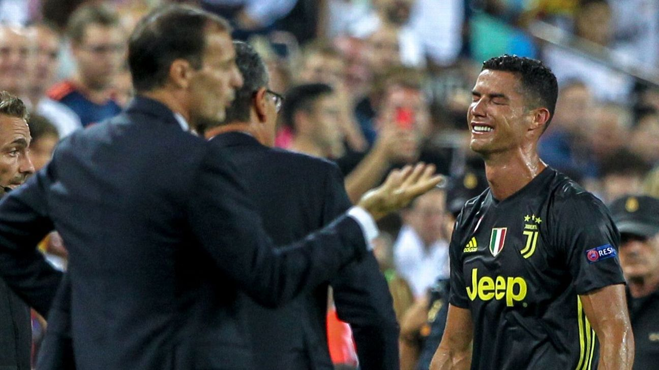 Juventus coach Massimiliano Allegri has called for VAR after Ronaldo's dismissal.