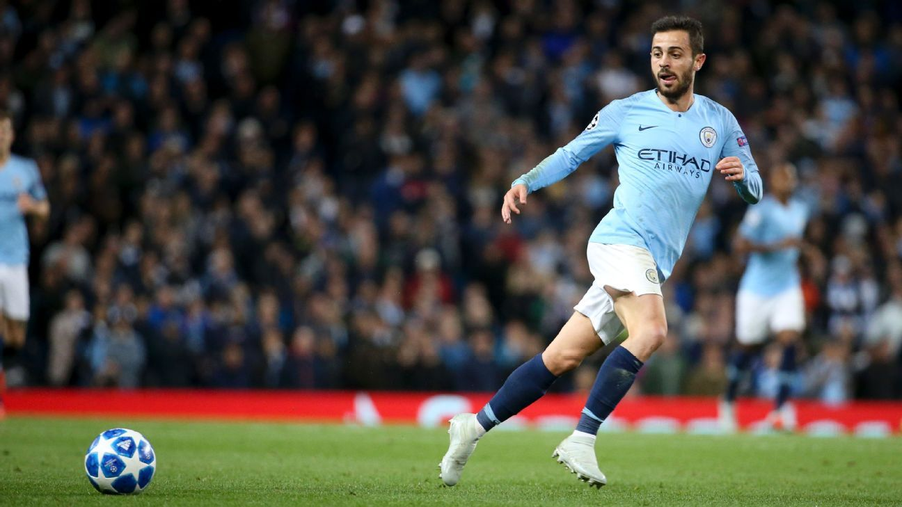 Manchester City's Bernardo Silva during the UEFA Champions League game against Lyon.