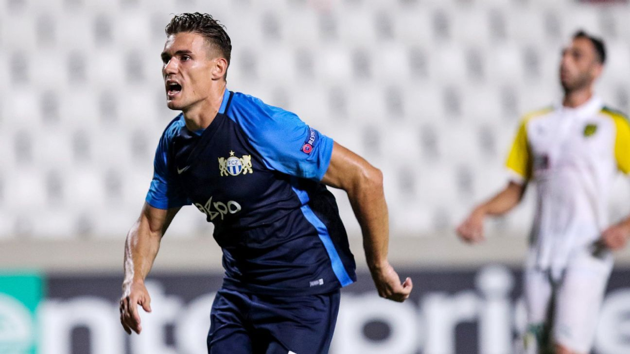 Benjamin Kololli went from hero to zero in a matter of seconds during FC Zurich's Europa League match on Thursday.