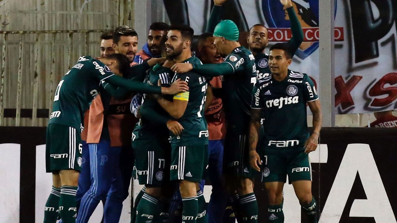 Brazilian side Palmeiras used an effective counterattack to beat Colo Colo on Thursday night in the first leg of their Copa Liberatodores quarterfinal clash.