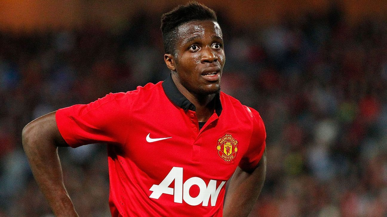 Wilfried Zaha joined Manchester United for £15m but made only two Premier League appearances for the club