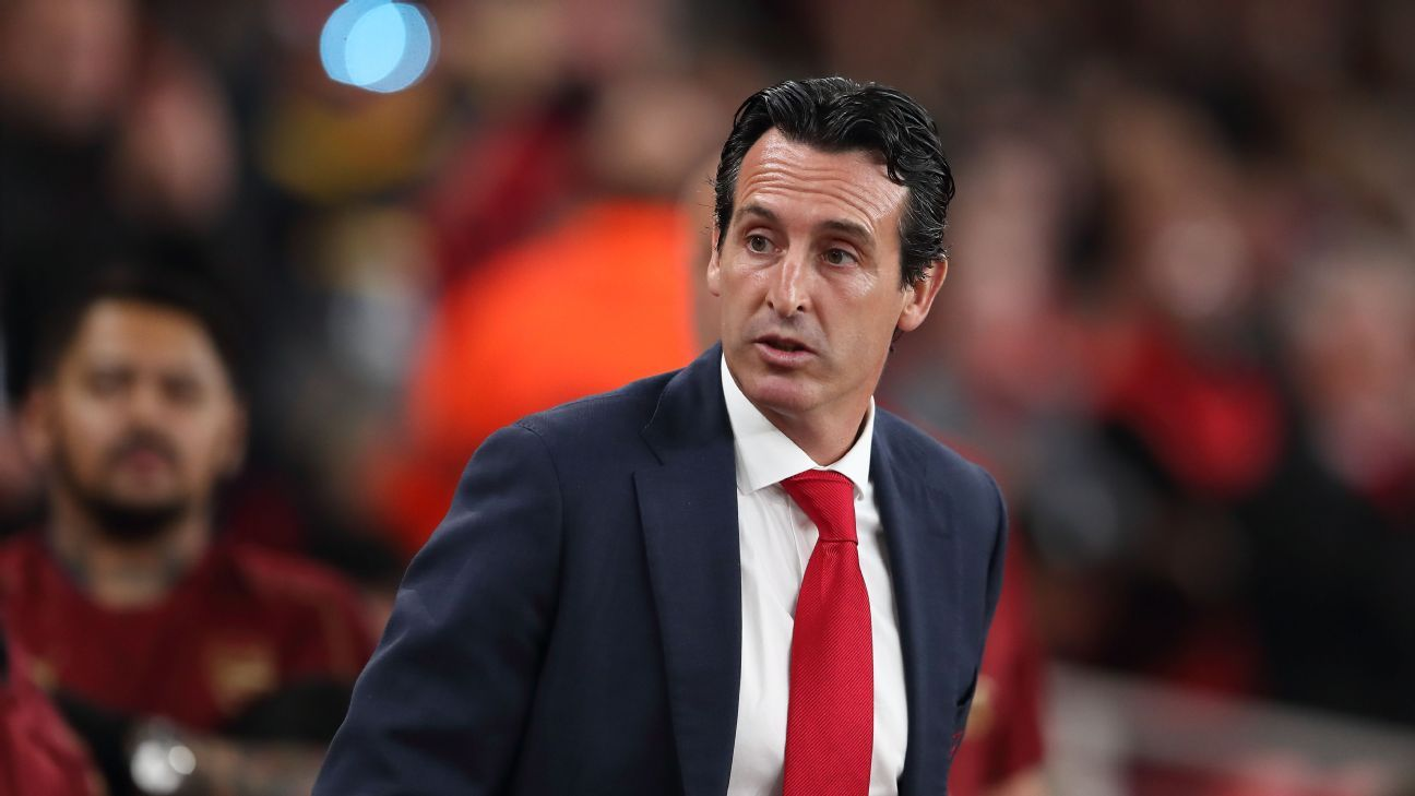 Arsenal coach Unai Emery