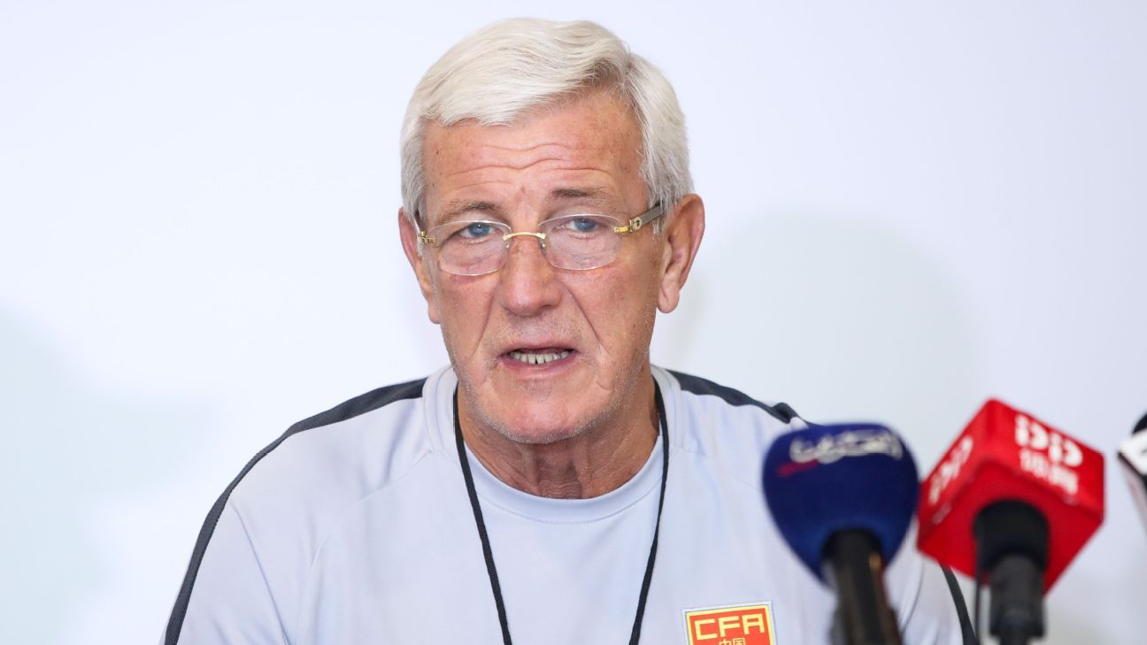 China head coach Marcello Lippi