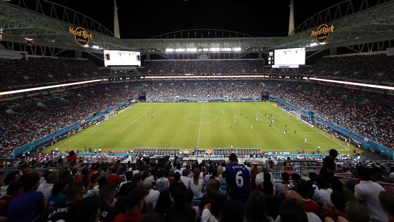 Hard Rock Stadium in Miami Gardens, Florida