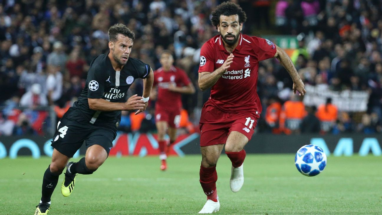 Salah, right, has seemed a little off the pace since even before the World Cup.