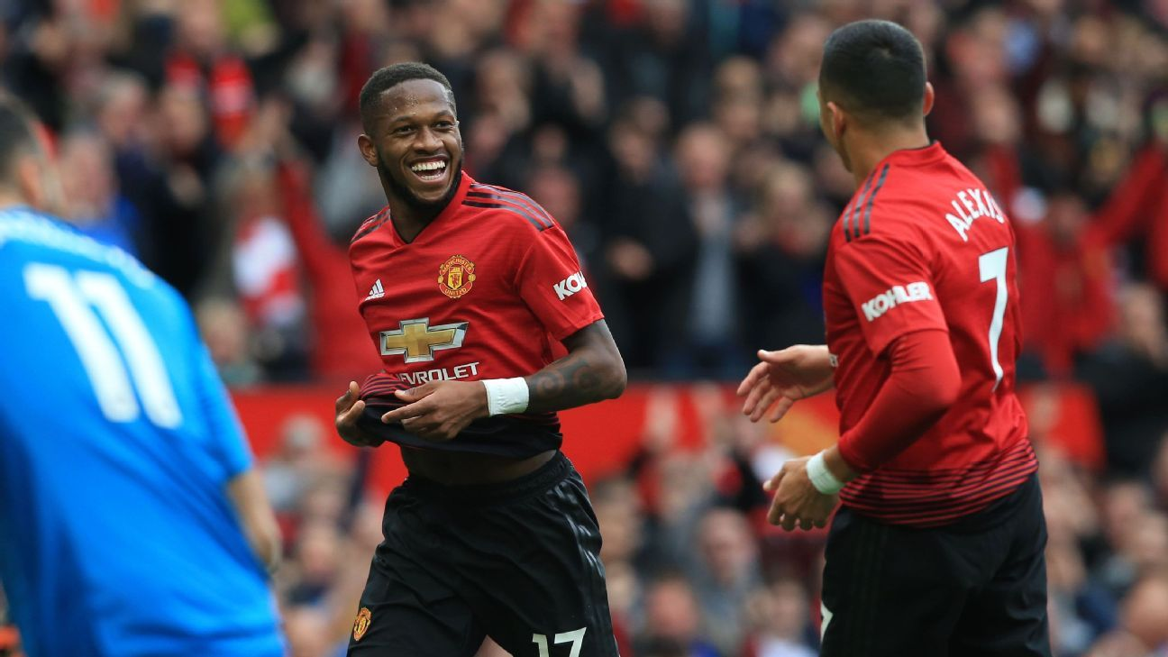 Fred scored his first goal for Manchester United in the Premier League game against Wolves.