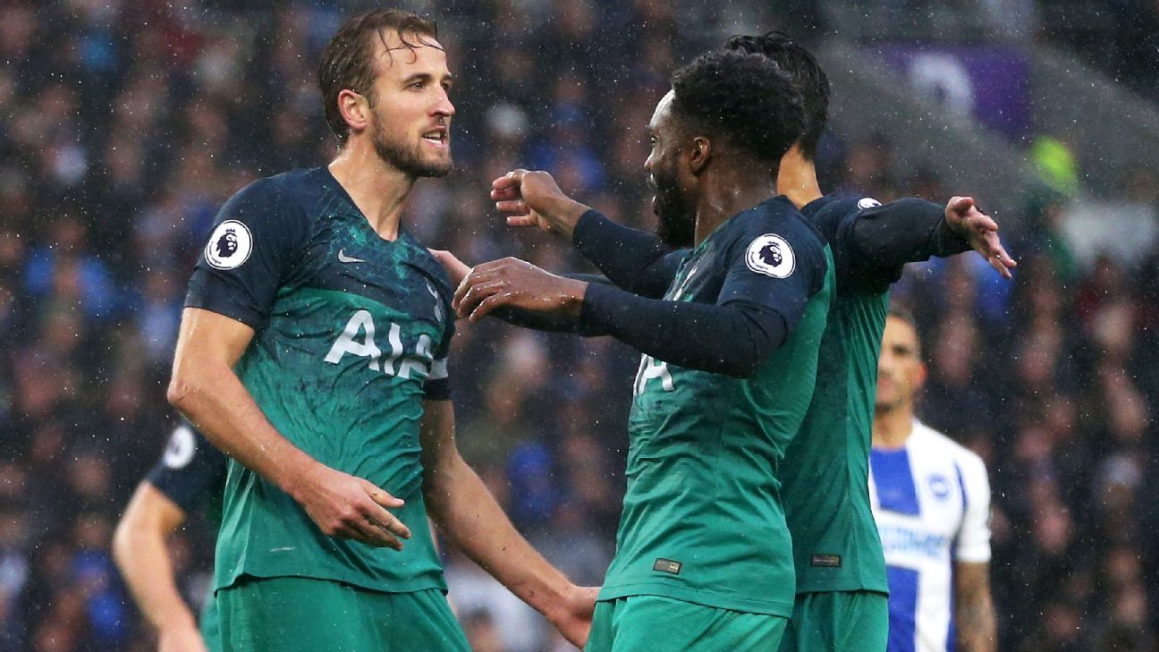 Rose, right-centre, was instrumental as Tottenham showed their character with a 2-1 win at Brighton.