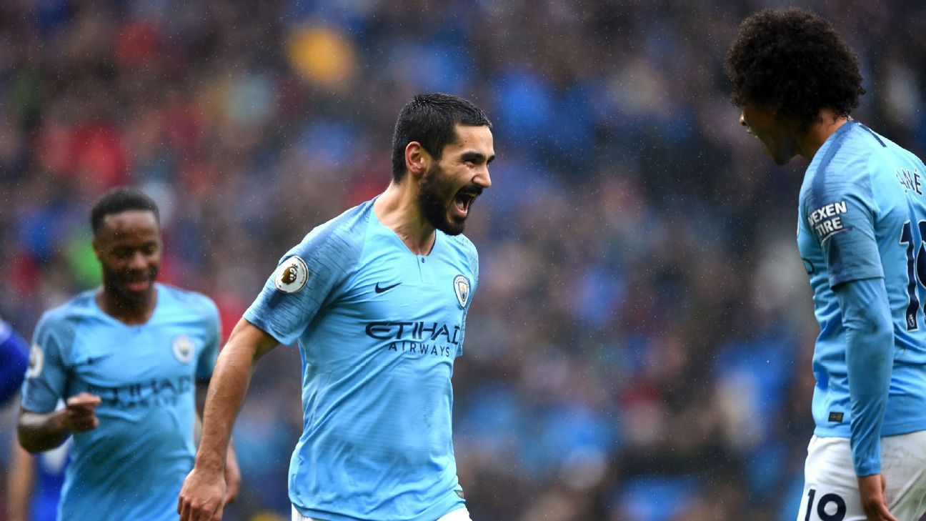 Ilkay Gundogan played a key role for Manchester City as they beat Cardiff.