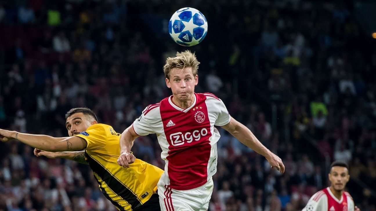 Transfer Talk: Manchester City would need £75m to pry Frenkie de Jong from Ajax