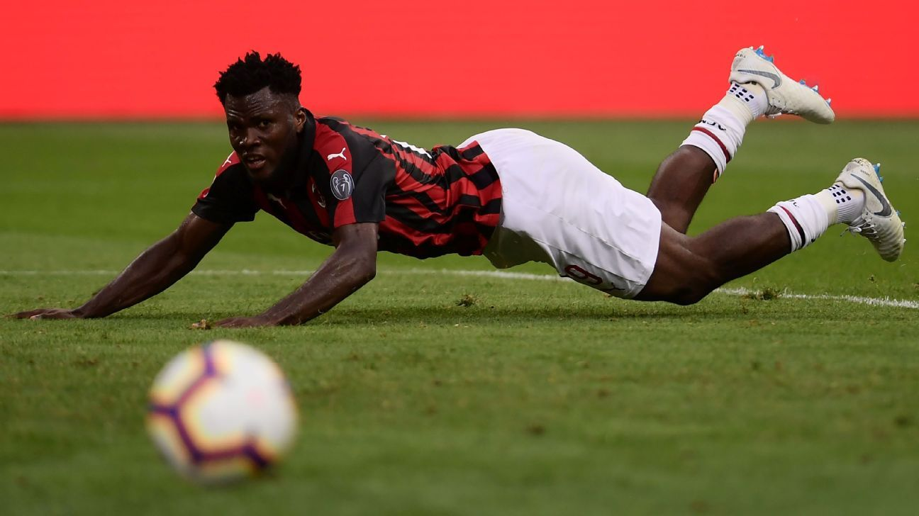 Franck Kessie looks on during AC Milan's Serie A draw with Atalanta.