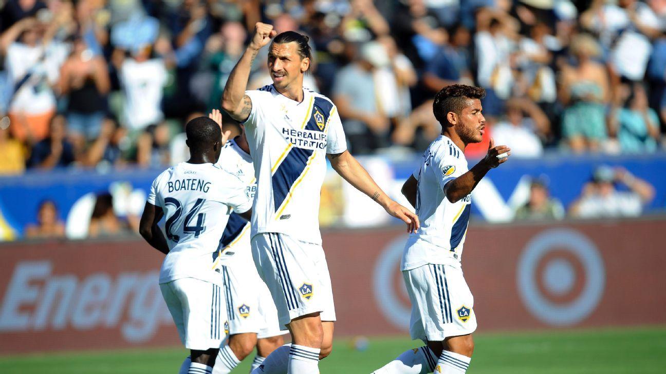 Zlatan Ibrahimovic snaps LA Galaxy's winless streak against the Seattle Sounders