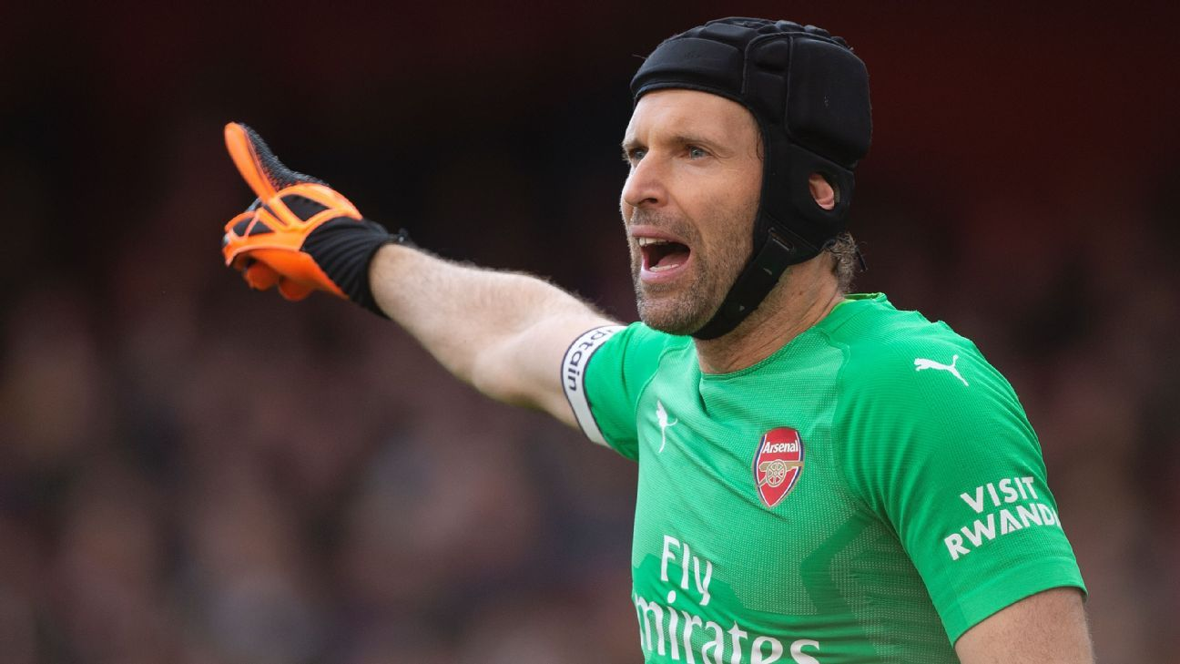 Petr Cech during Arsenal's 2-0 win over Everton.