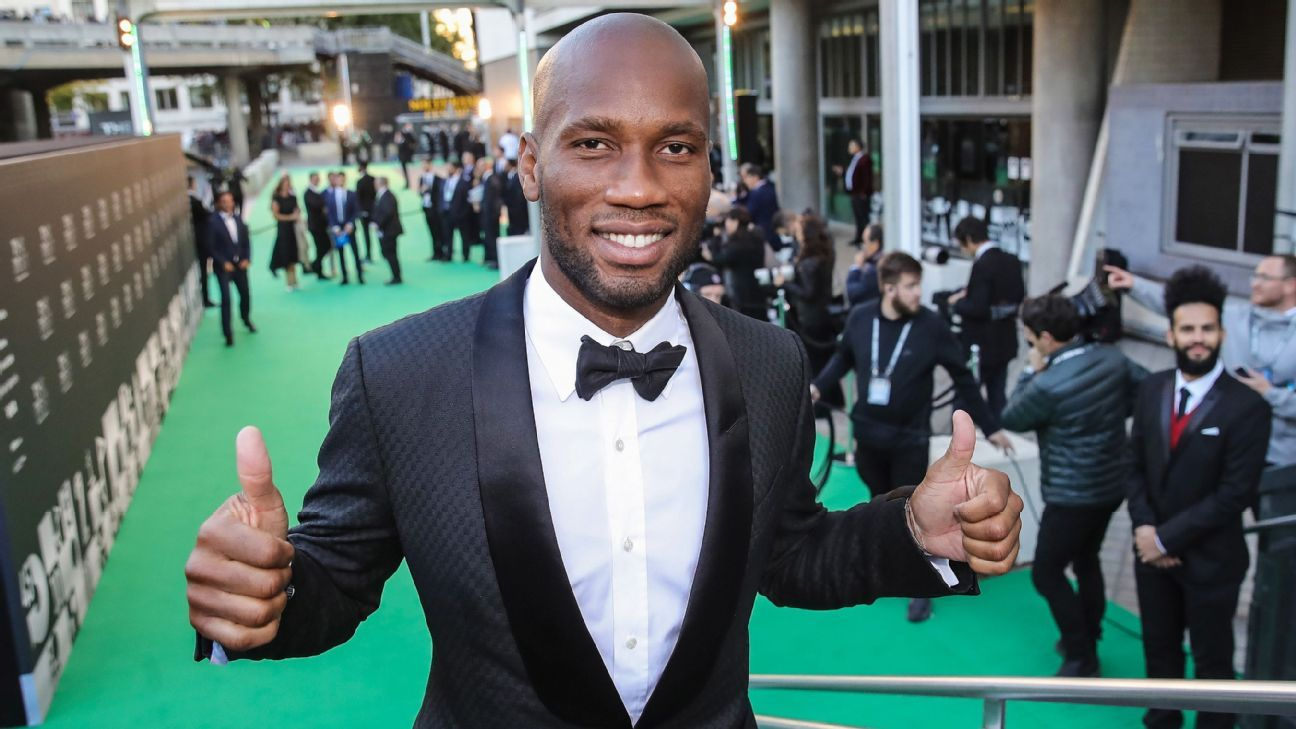 LONDON, ENGLAND - SEPTEMBER 24:  Didier Drogba arrives at the Green Carpet during The Best FIFA Football Awards at Royal Festival Hall on September 24, 2018 in London, England.
