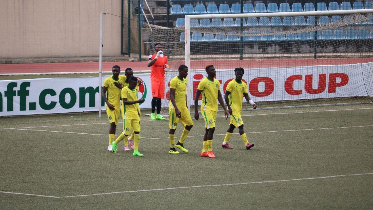 Kano Pillars celebrate a goal