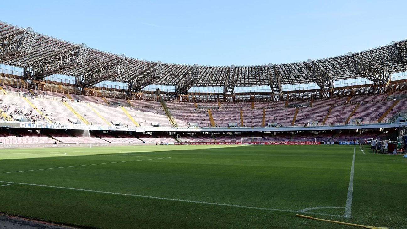 The Stadio San Paolo in Naples, Italy.