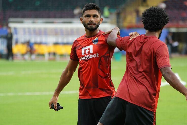 Anas Edathodika during preseason training for the Kerala Blasters.