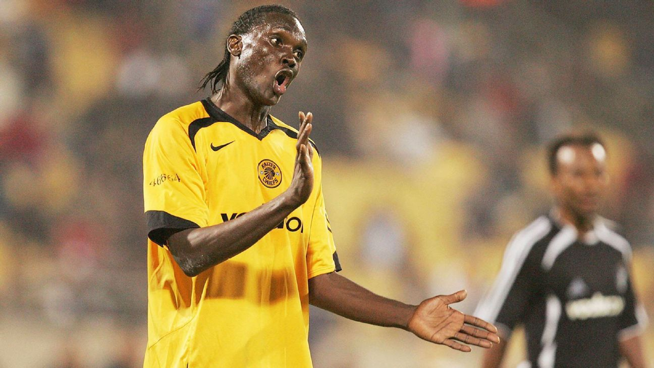 Former Uganda international David Obua in action for Kaizer Chiefs
