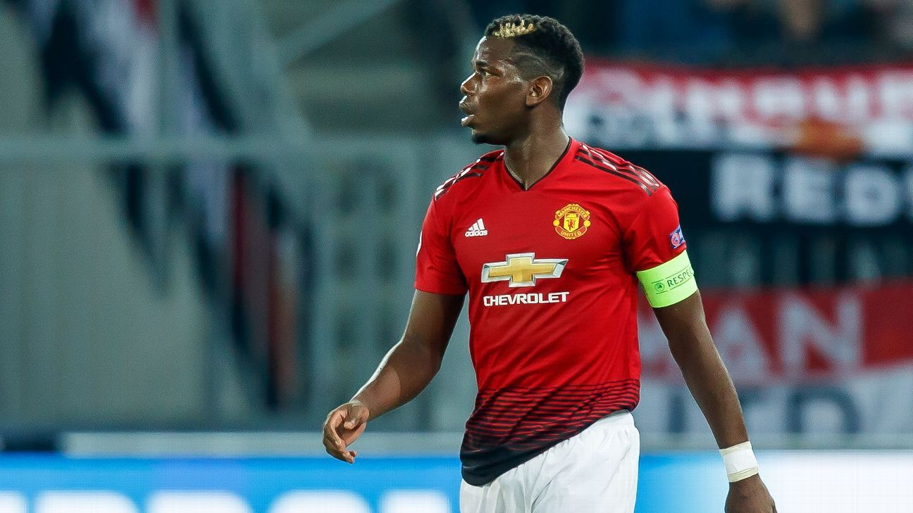 Paul Pogba captained Manchester United in the Champions League win against Young Boys.