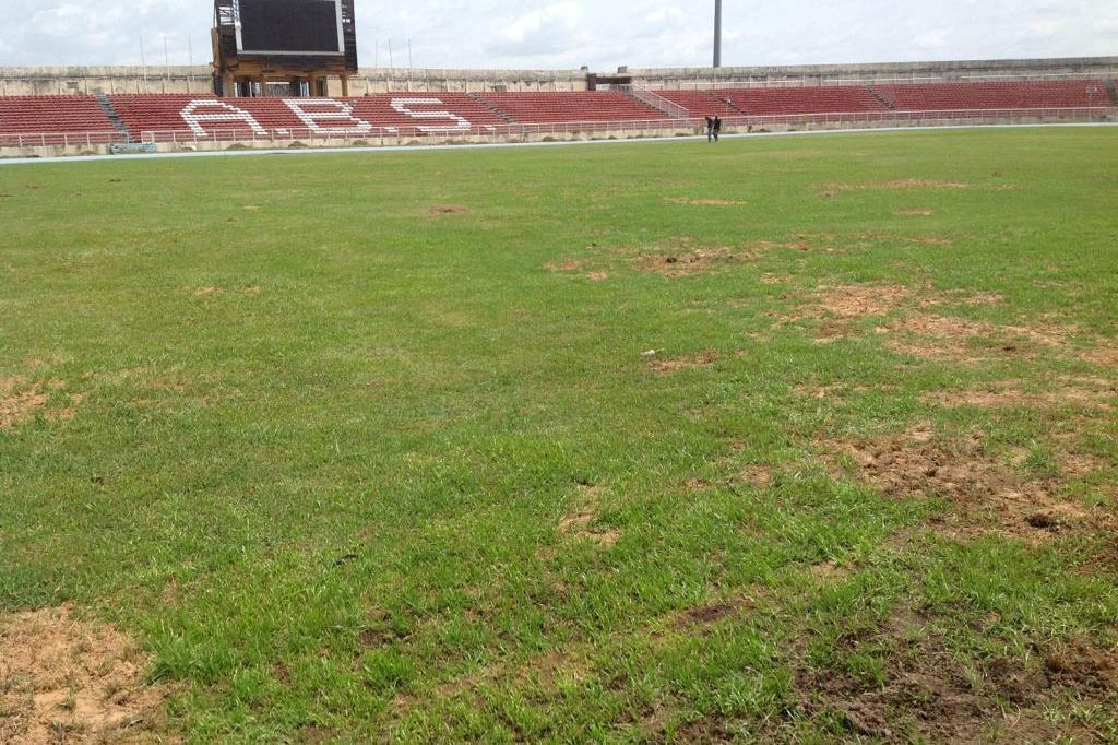 The Ahmadu Bello Stadium in Kaduna is looking worse for wear