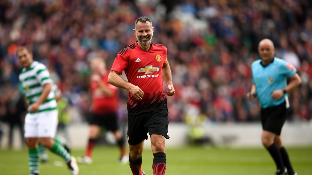 Ryan Giggs, a teammate of Liam Miller between 2004-06, was one of the biggest stars on display Tuesday.