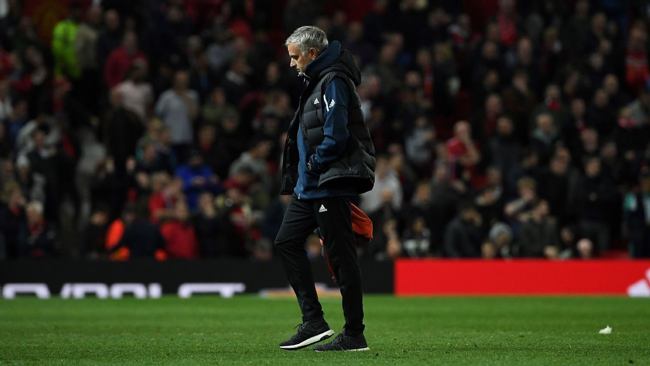 Jose Mourinho started a drama-filled Tuesday with his position at Old Trafford strengthened. It ended with a loss to Derby County -- and far more questions than answers.