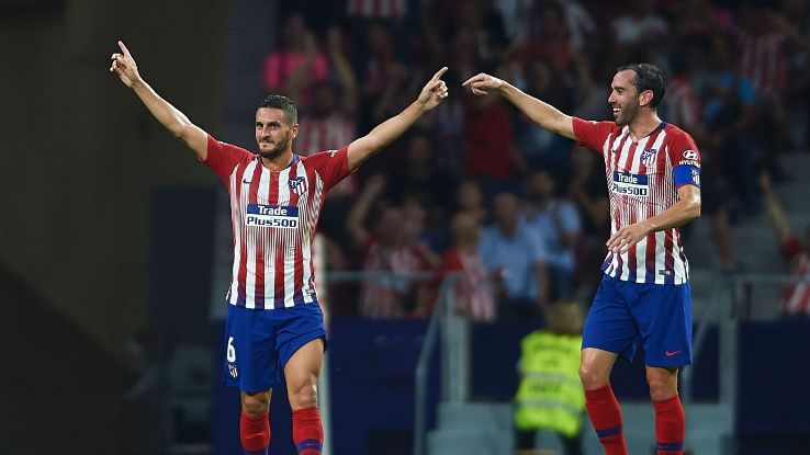 Koke scored Atletico Madrid's third in what was a convincing performance from Diego Simeone's men.
