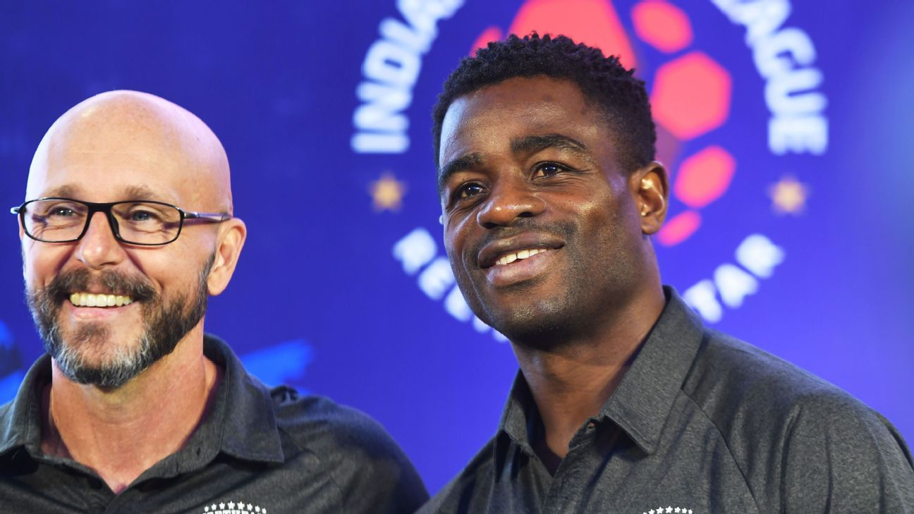 Bartholomew Ogbeche (right) was scouted and signed by Paris Saint-Germain when he was just 15.