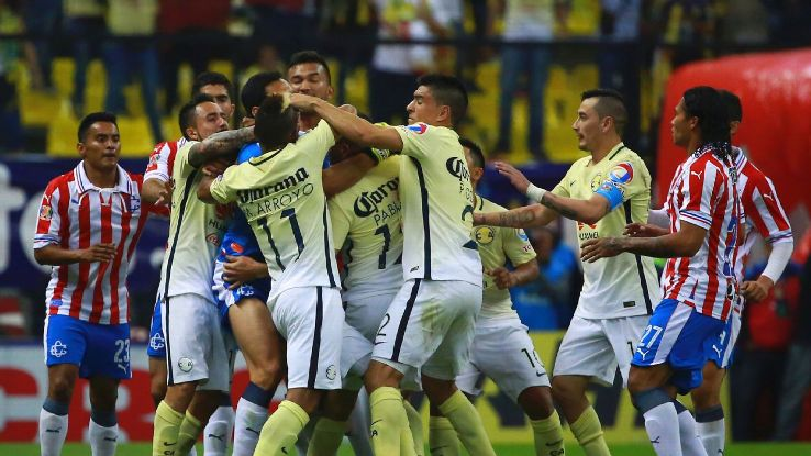 There is never any love lost when Club America and Chivas meet, as this shoving match from 2016 clearly shows.