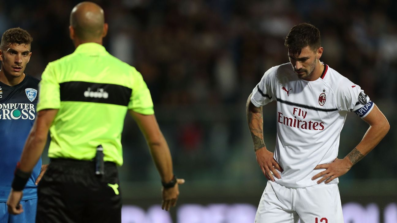 Alessio Romagnoli ruined a solid performance with a costly turnover that led to Empoli's penalty.
