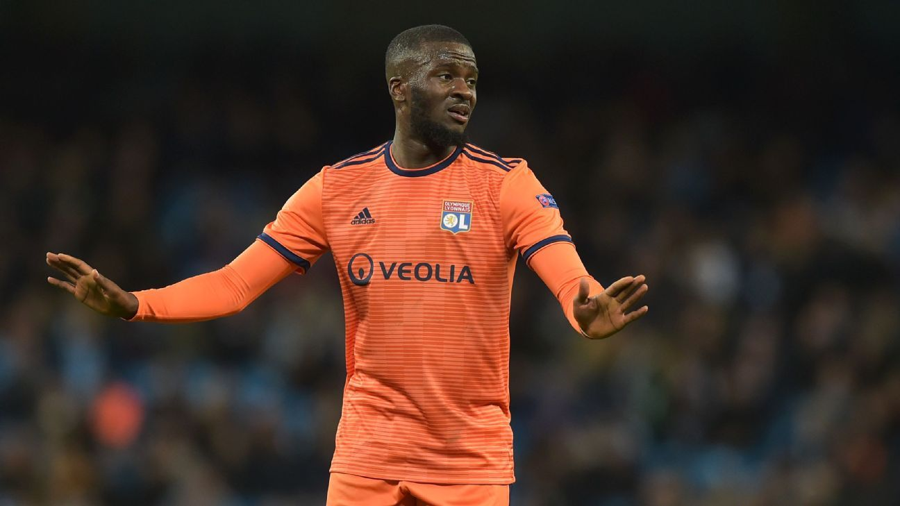 Tanguy Ndombele of Lyon impressed against Manchester City.