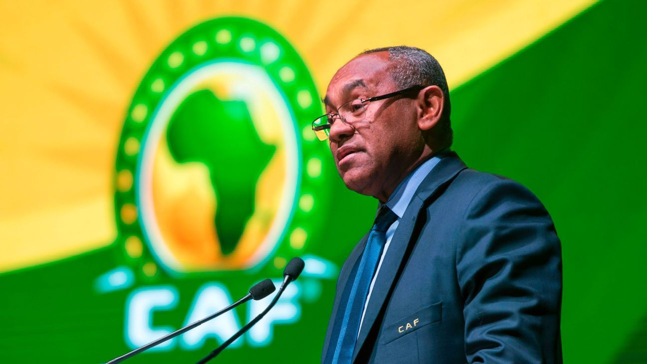 Confederation of African Football (CAF) President Ahmad Ahmad delivers a speech during the 40th CAF ordinary general assembly in February, 2018