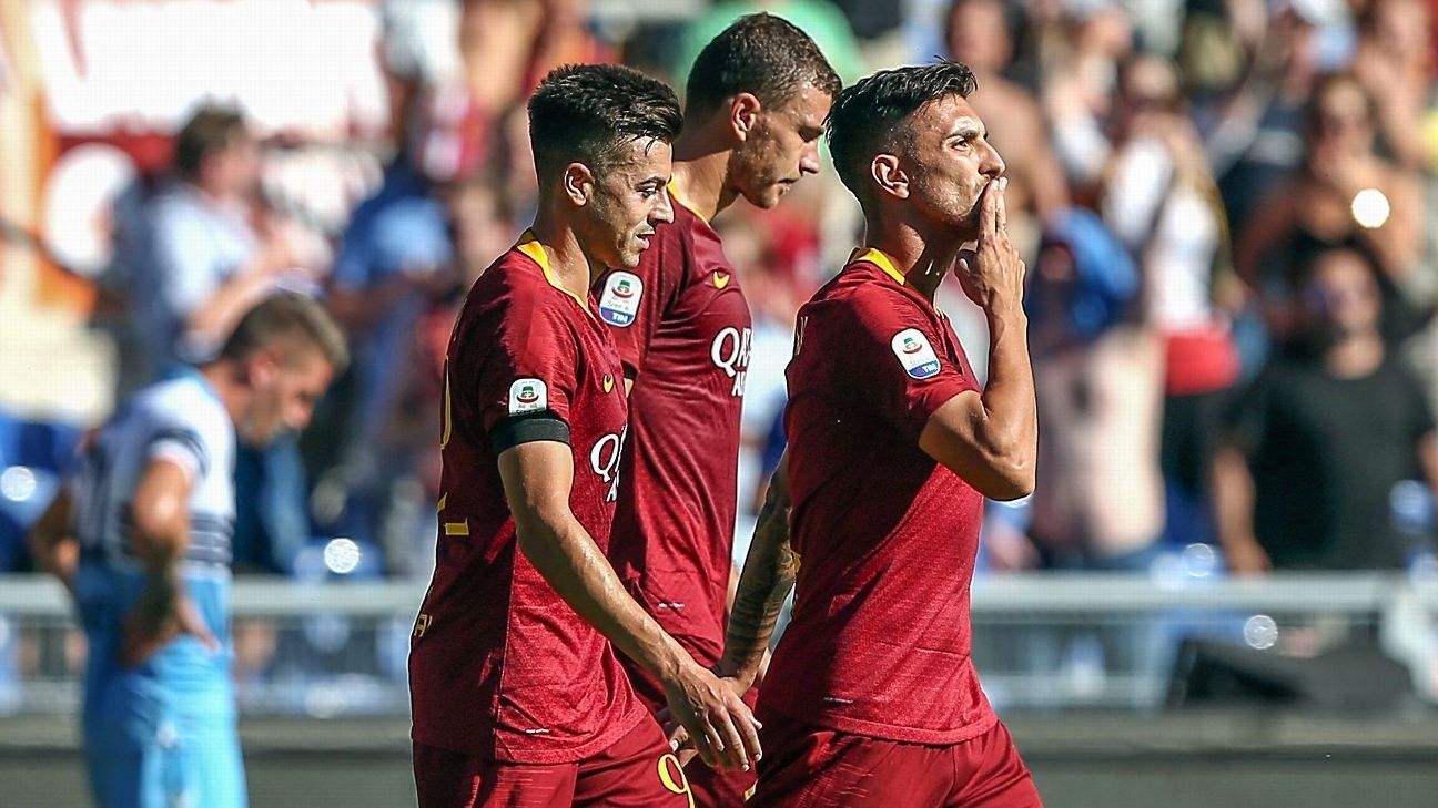 Lorenzo Pellegrini came on as a sub to make the vital contribution in the Rome derby.