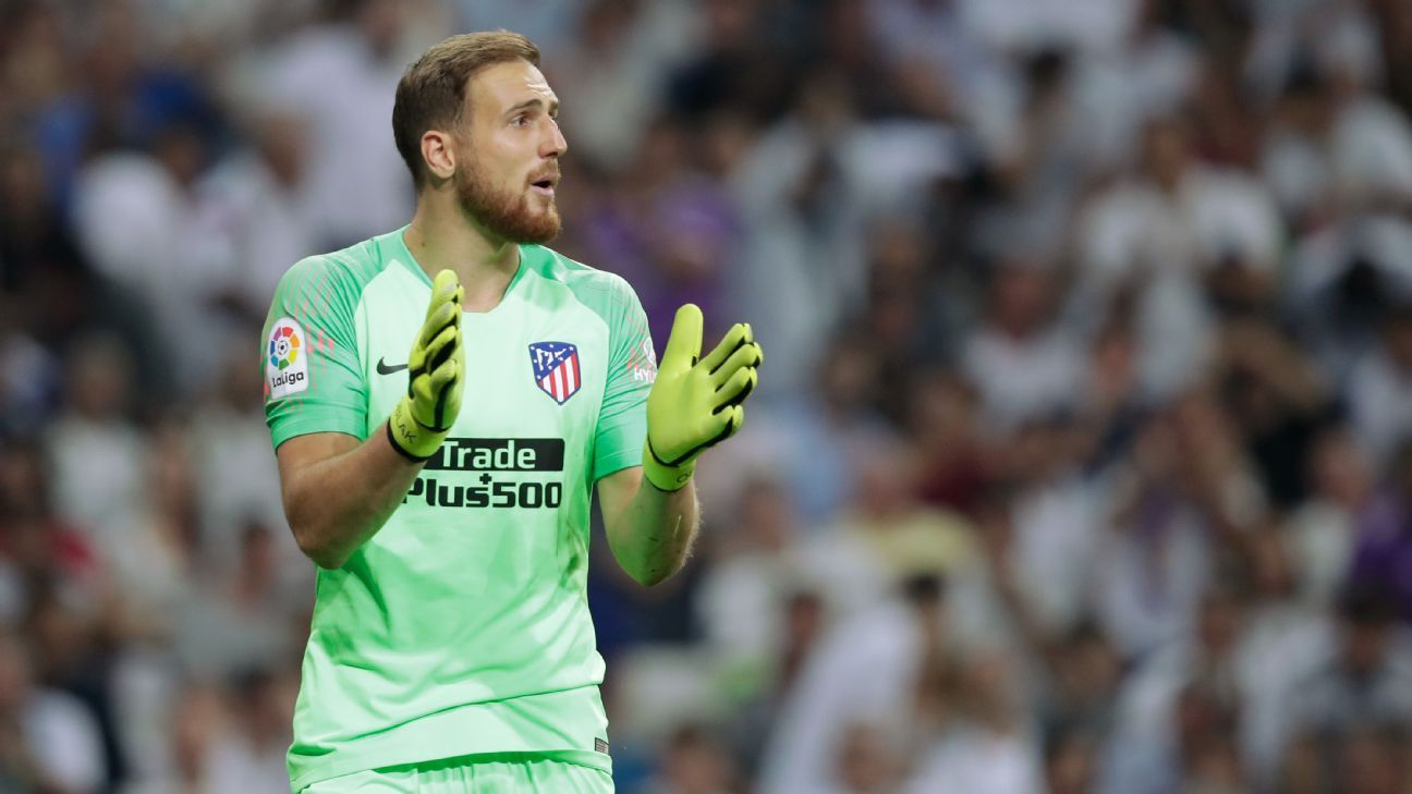 Jan Oblak made six saves en route to his fourth clean sheet in seven La Liga games this season.