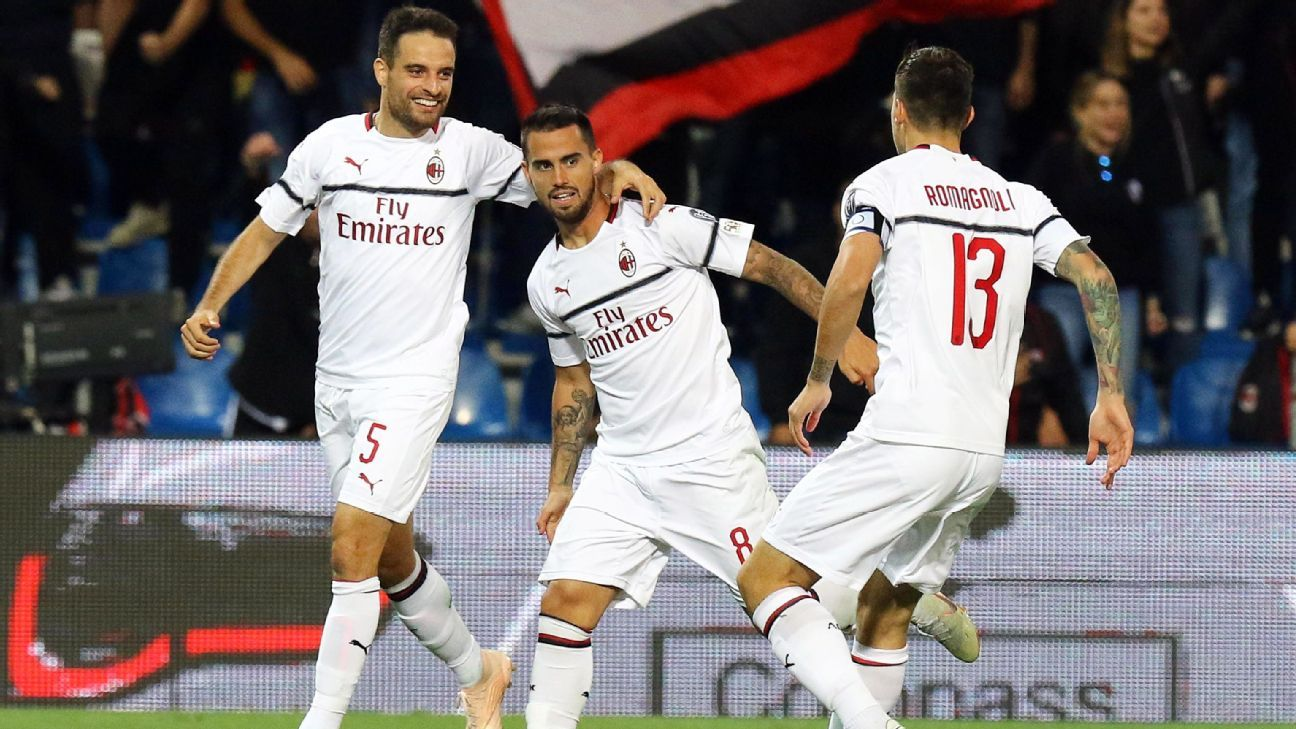 Suso scored twice to lead AC Milan's attack against Sassuolo in the Rossoneri's 4-1 win on Sunday.