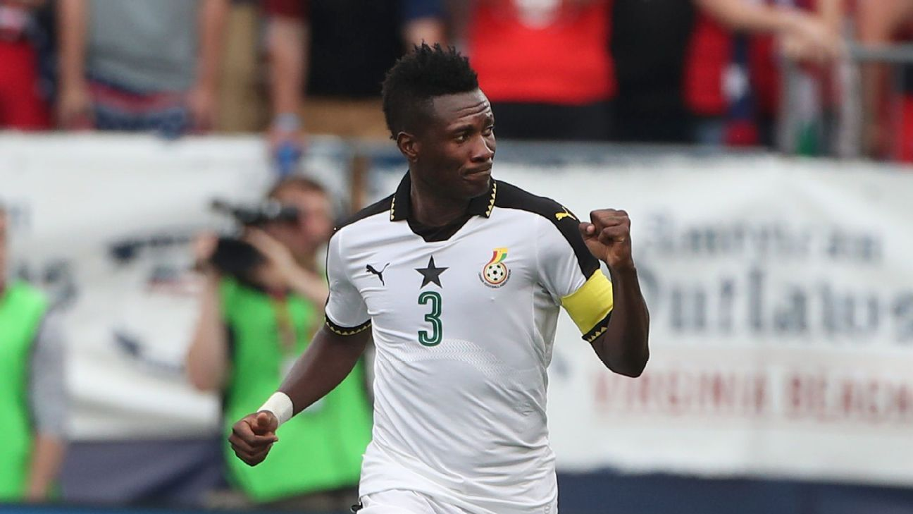 Asamoah Gyan is Africa's all-time top scorer in the World Cup