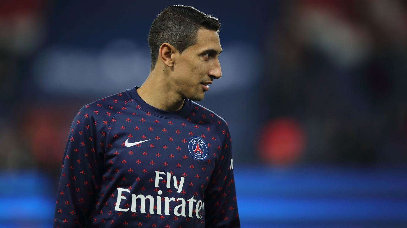 Angel Di Maria is in his fourth season with Paris Saint-Germain.