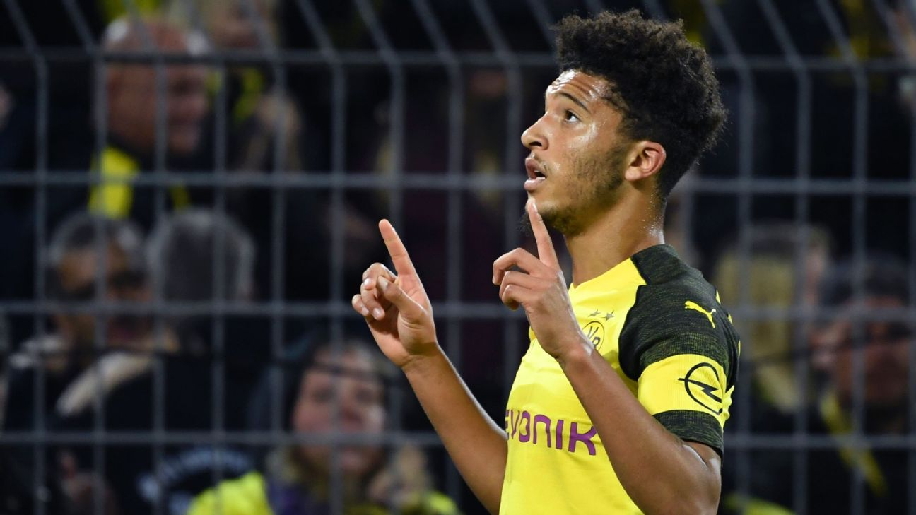 Jadon Sancho has been in fine form for Borussia Dortmund this season.