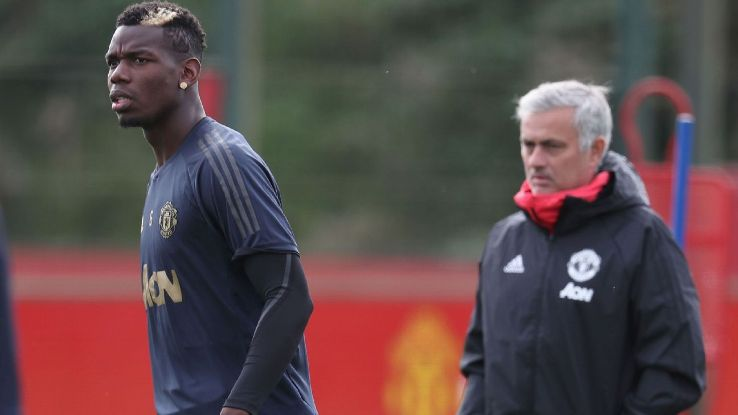 Paul Pogba and Jose Mourinho's relationship has become strained at Manchester United.