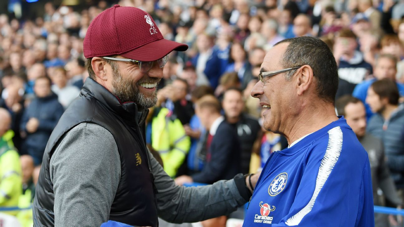 Jurgen Klopp and Maurizio Sarri had reason to look happy after Saturday's 1-1 draw that helped both Liverpool and Chelsea while also being great fun for the neutrals.